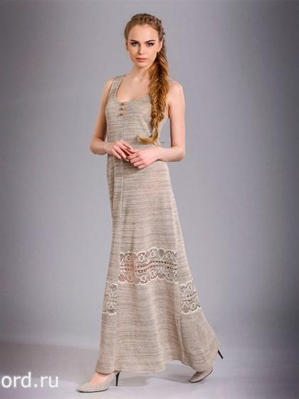 Платье-сарафан с кружевом - фото 26566