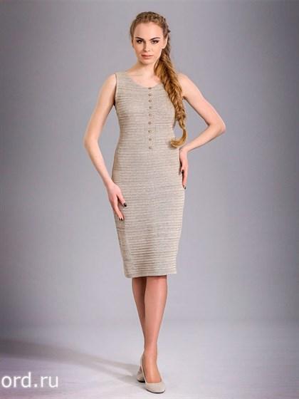Льняное платье без рукавов - фото 26586