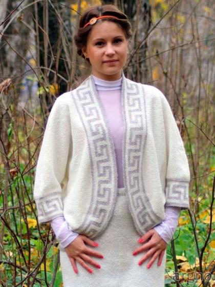 Пончо женское с полушерстью - фото 26806