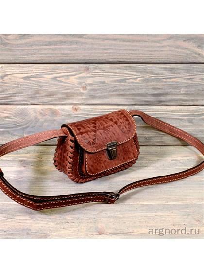 "Дамская сумка ""Карамелька"" из кожи - фото 26853"