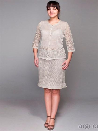 Ажурная юбка-мини  с рюшами - фото 27638