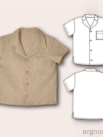 Рубашка изо льна для мальчика - фото 27711