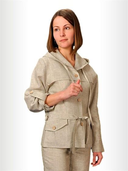Куртка женская льняная - фото 27719