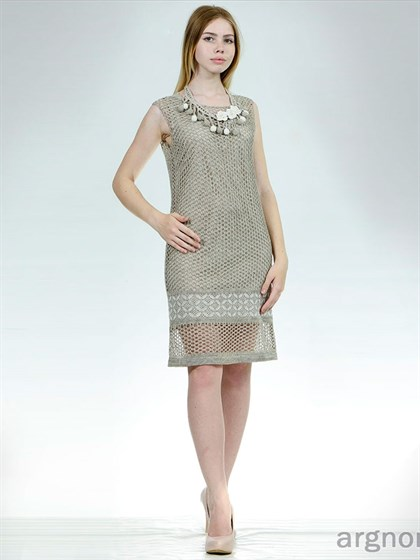 Ажурное льняное платье - фото 28400