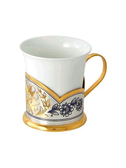 """Чашка кофейная """"Астра"""" (фарфор, серебро, золочение) - фото 28449"""
