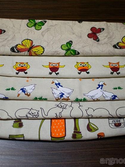 Комплект кухонных полотенец - 5 шт (лен, хлопок) - фото 28479