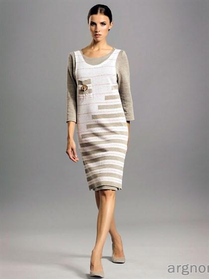 Платье из льна с имитацией сарафана - фото 28923