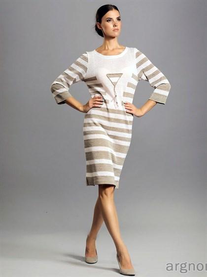 Трикотажное платье из льна - фото 28958