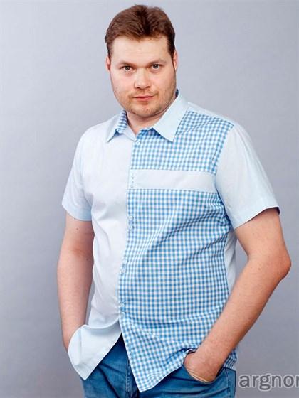 Мужская рубашка с коротким рукавом - фото 30143