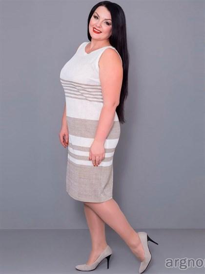 Платье прямое из льна - фото 30199