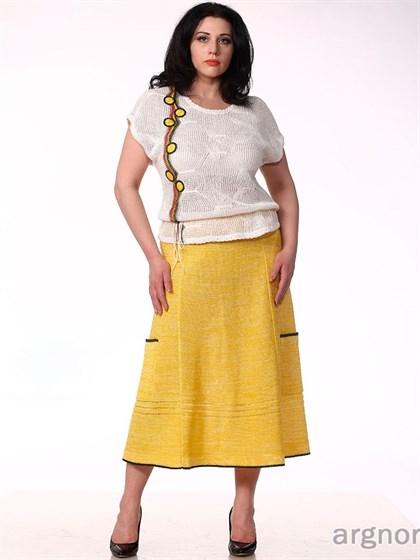 Яркая трикотажная юбка - фото 30452