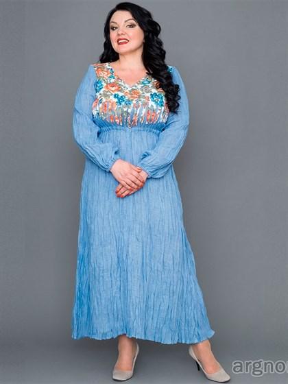 Платье летнее (жатый лен) - фото 30545