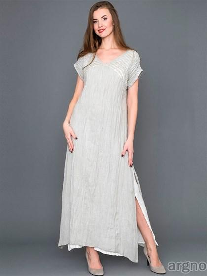 Платье из жатого льна - фото 30574
