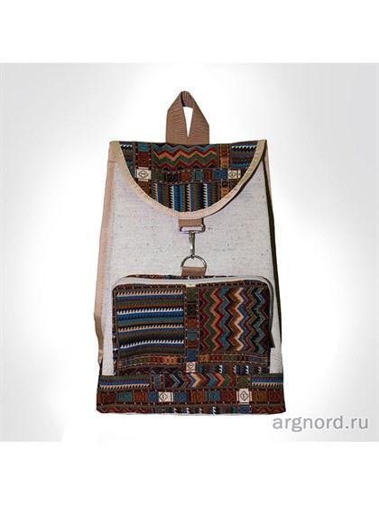 Рюкзак из льна и гобелена - фото 31265
