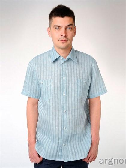 Рубашка мужская с коротким рукавом - фото 31700