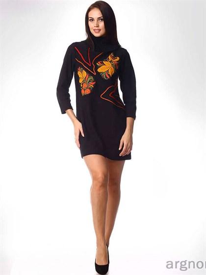Платье вязаное с аппликацией - фото 31753