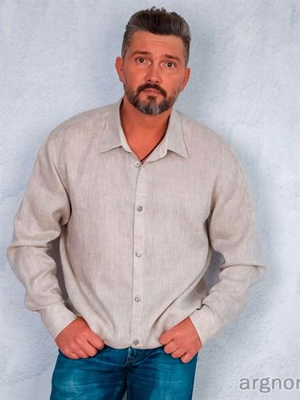 Льняная мужская рубашка - фото 31861