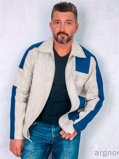 Куртка мужская изо льна - фото 31876
