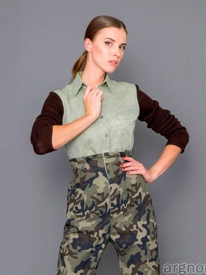 Женская льняная блуза - фото 31941