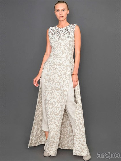 Платье изо льна - фото 31998