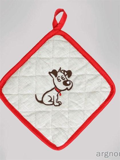 Прихватка с вышивкой собака - фото 32244