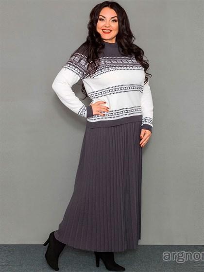 Длинная юбка из полушерсти - фото 32415