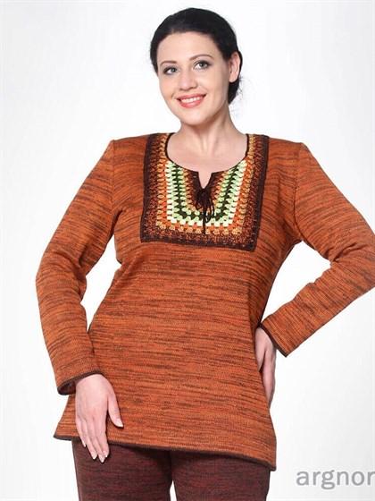 Женская туника с длинными рукавами - фото 32696