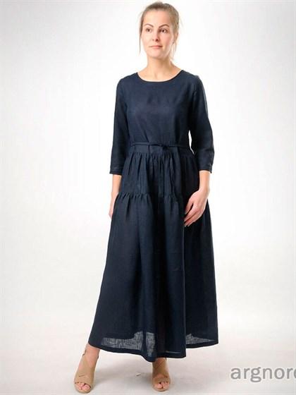 Длинное льняное платье - фото 32722
