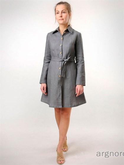 Льняное платье с застежкой на пуговицах - фото 35665