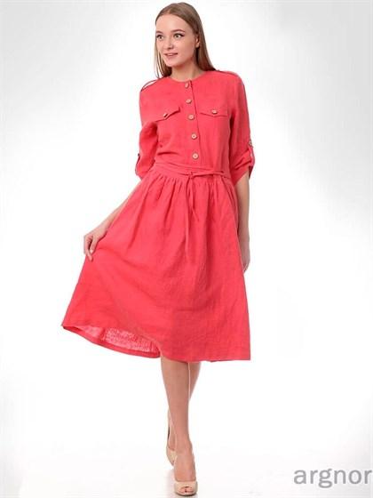 Платье из вареного льна - фото 32840