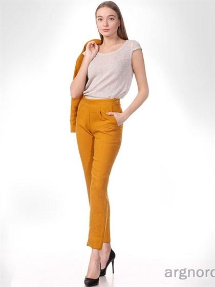 Женские брюки из вареного льна - фото 33101