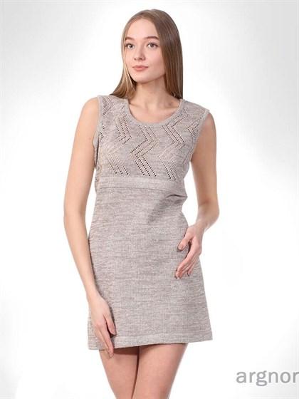 Короткое вязаное платье - фото 33121