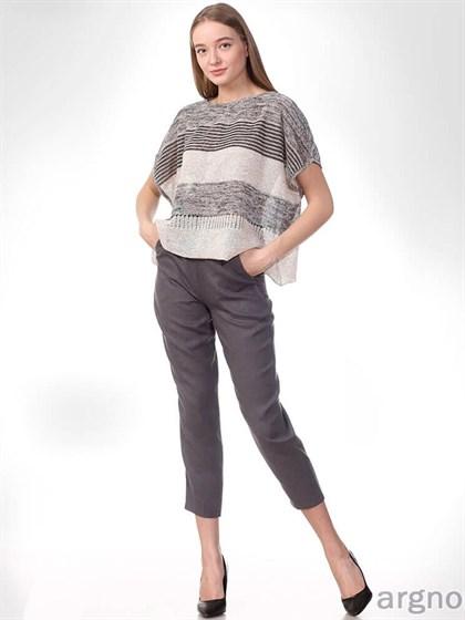 Укороченные льняные брюки - фото 33178
