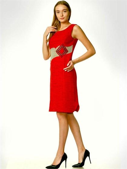 Летнее трикотажное платье - фото 33455