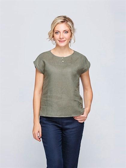 Льняная блуза - фото 33487