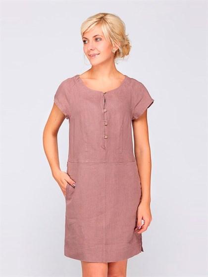 Платье льняное - фото 33497