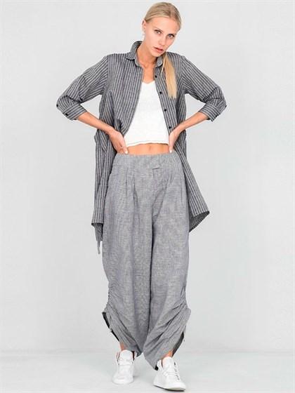 Широкие женские брюки из льна - фото 33668