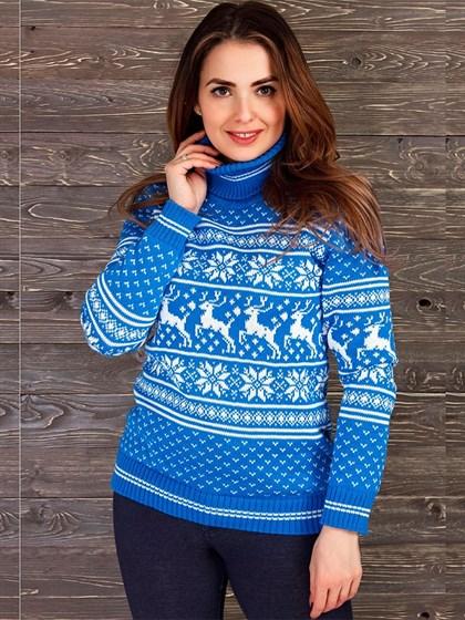 Женский свитер из льна и полушерсти - фото 33707
