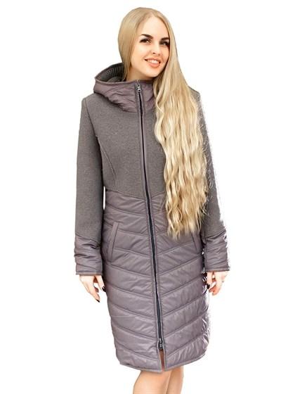 Женское пальто (валяная шерсть+плащевка) - фото 33730