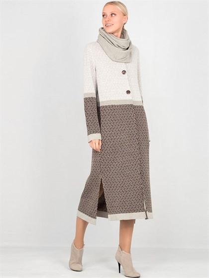 Пальто из льна и полушерсти - фото 33818