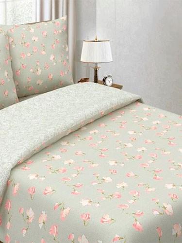 """Комплект постельного белья """"Цветущий горошек Розовый/Белый узор"""" - Евро - фото 33866"""
