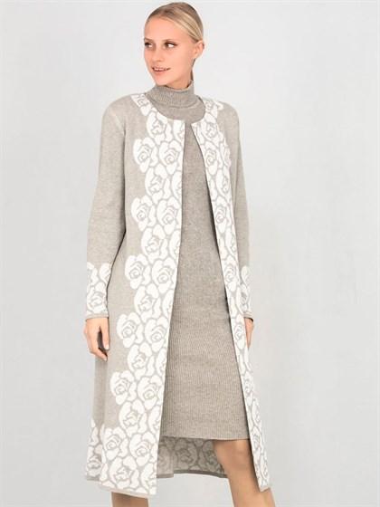 Вязаное платье-резинка - фото 33968
