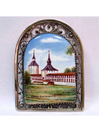 Панно финифть Кирилло-Белозерский монастырь - фото 34238
