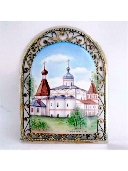 Панно финифть Ферапонтов монастырь - фото 34241