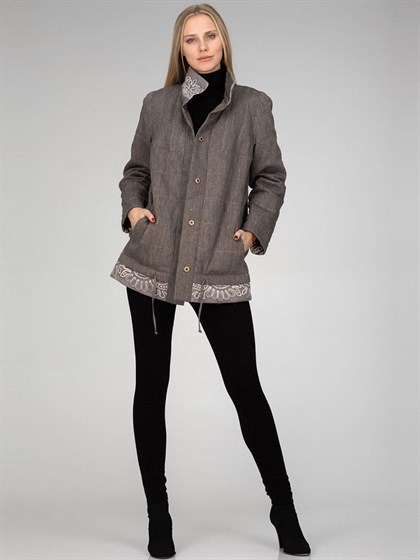 Куртка утепленная (лен+трикотаж) - фото 34456