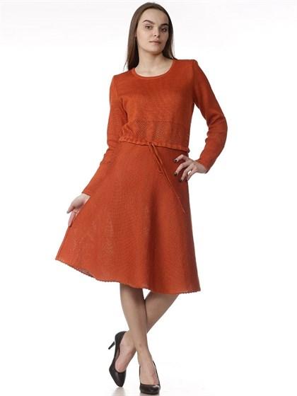 Платье трикотажное - фото 34574