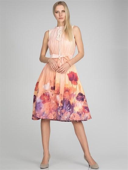 Платье льняное - фото 35081