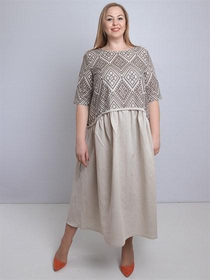 Платье льняное - фото 35194