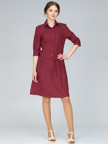 Платье-рубашка льняное - фото 35780