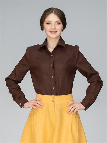 Рубашка женская льняная - фото 35791